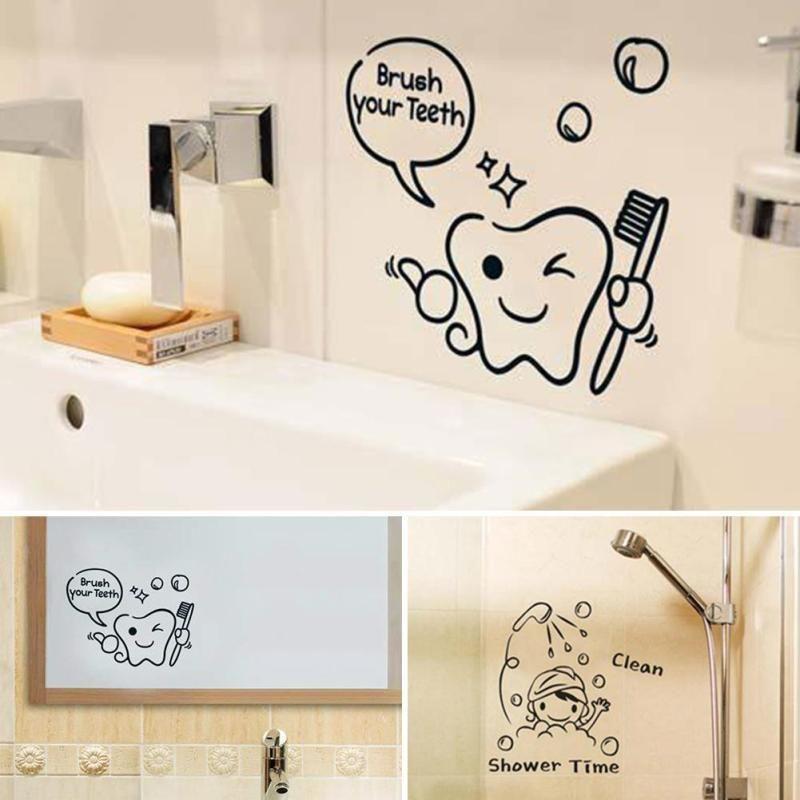 Tout nu mur citation salle de bain douche Autocollant Decal Mur Vinyle Drôle Art Murale