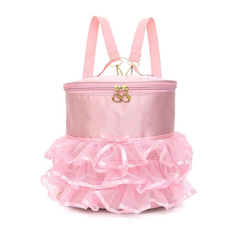 Sac à dos Danse imperméable rose Filles sport de ballet Sacs ballerine enfants Rucksack Sac à main avec robe mignonne jupe volantée Tutu