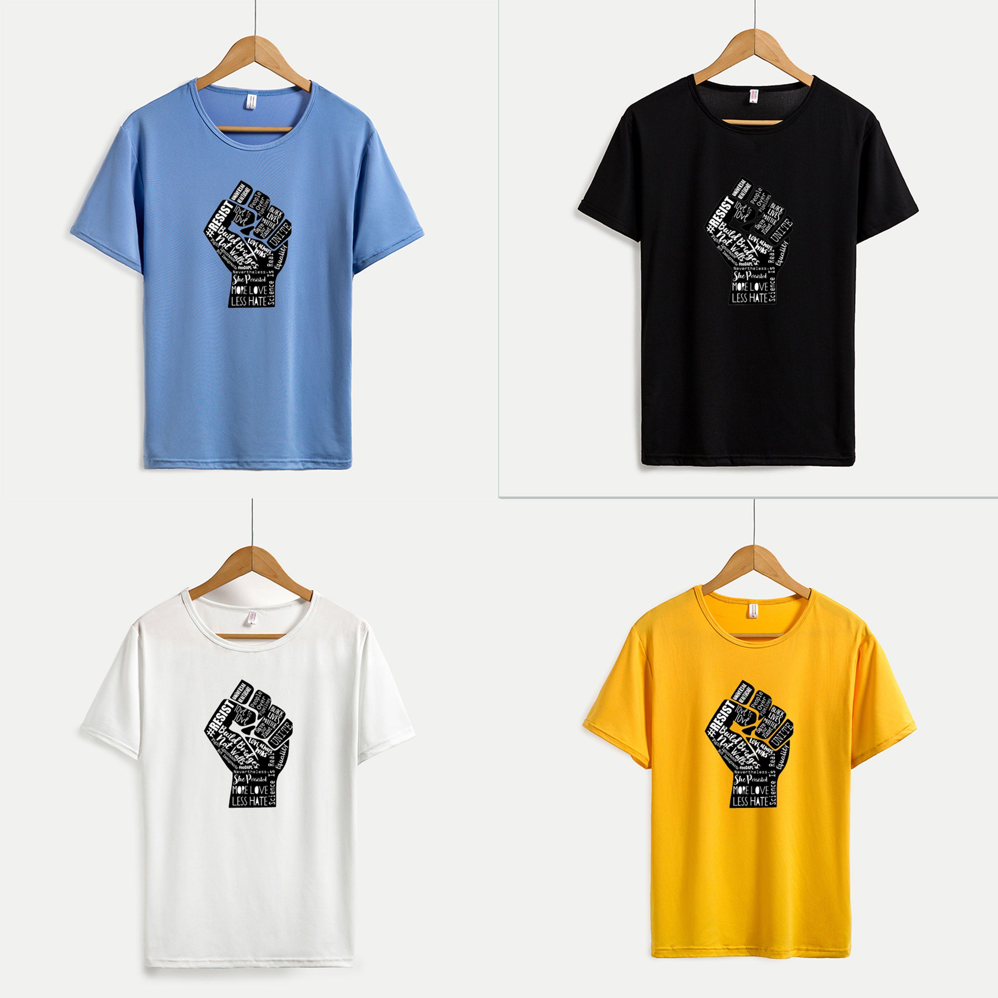 Nero Vite Matters 2020 Resist magliette per le donne di modo del modello Top per ragazze estate Tees attivi costruire ponti non muri per Wholesale