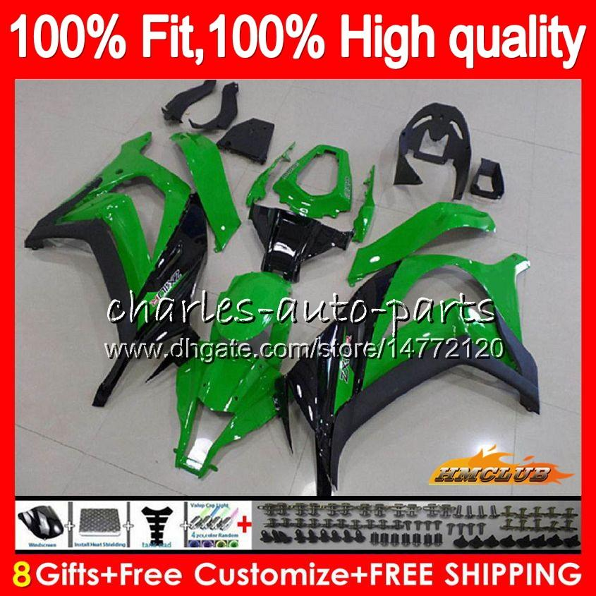 Injection For KAWASAKI ZX 10 R ZX1000 C ZX10R 11 12 13 14 15 46HC.52 ZX 10R 1000CC ZX-10R 2011 2012 2013 2014 2015 OEM green stock Fairing