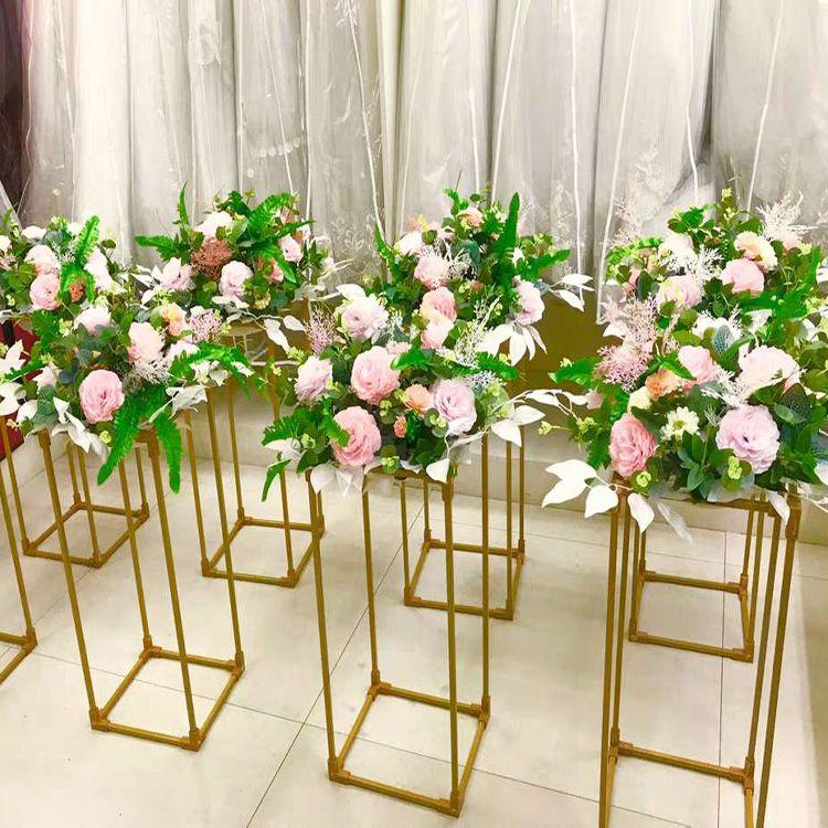 New style Gold Metal Iron Flower Stand Candle Holder for Wedding Decoration Floral Arrangement Floristic Table Centerpiece Decor senyu0162