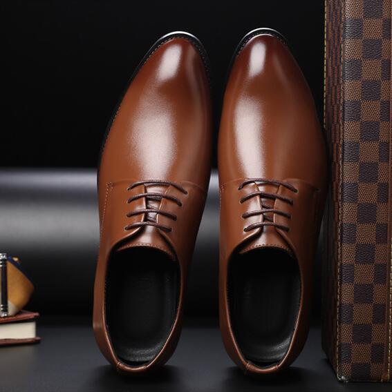 Acheter Chaussures De Marque Pour Hommes, Chaussures De Ville En Cuir Pour Hommes, Avec Lacets, Chaussures De Taille Plus En Cuir, Chaussures De Luxe