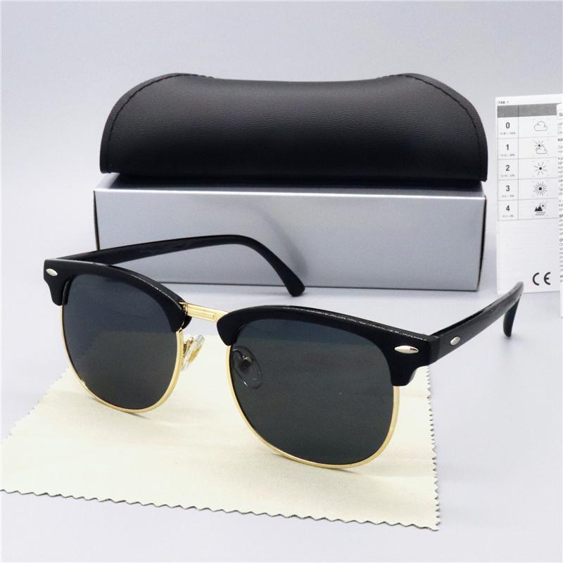 2020 Neue Luxus-Marke polarisierte Sonnenbrille Männer Frauen Pilot Sonnenbrille UV400 Eyewear Bans 3016 Brillen Metallrahmen Polaroid-Objektiv