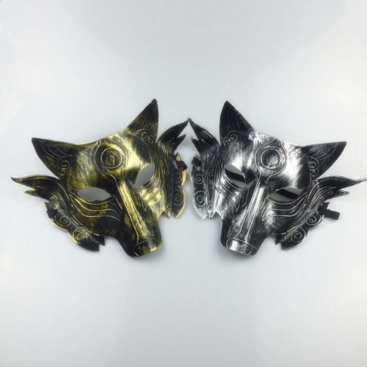 Masque épais Loup Horreur Costume Loups Masques Masques Halloween mascarade Décoration Adulte Enfant Masque LXL689-1
