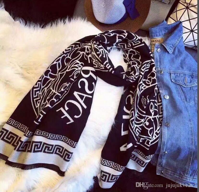 2020 designer top lenço mulheres lenços de cashmere macio marca cachecol de caxemira moda cachecol de caxemira malha lenços w14-2