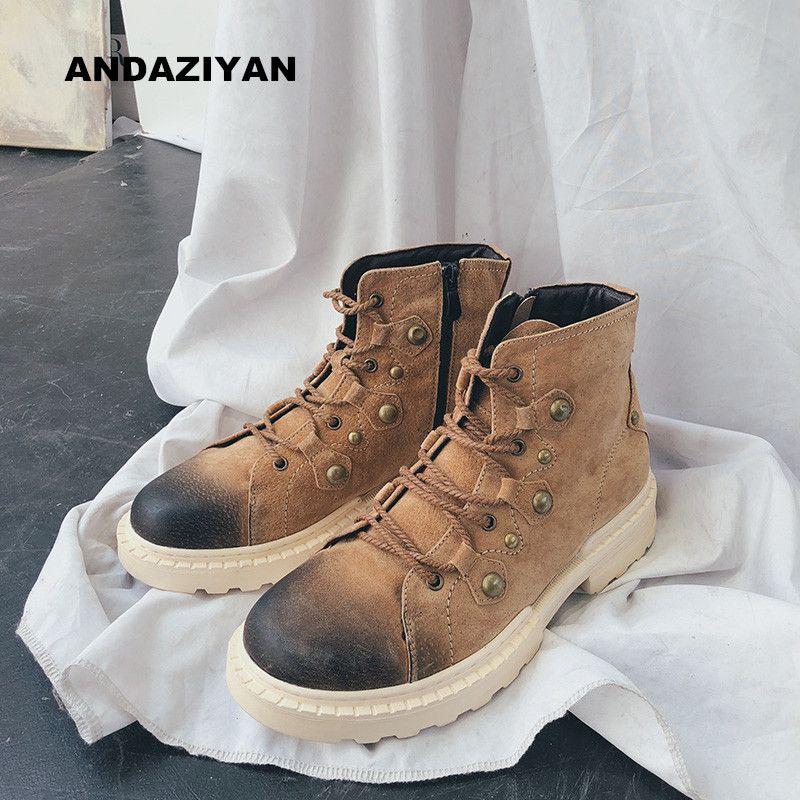 Sapatinho botas retro britânicas ferramental botas casuais sapatos masculinos