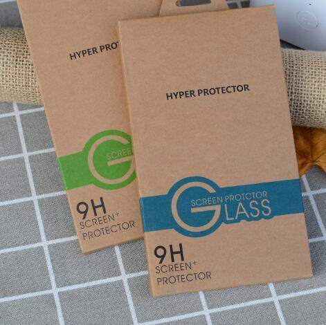 Confezioni di scatole d'oro Confezioni di colore Confezioni di colori Per la protezione dello schermo in vetro temperato iPhone XS Max XR X 8 Plus Galaxy S7 Edge