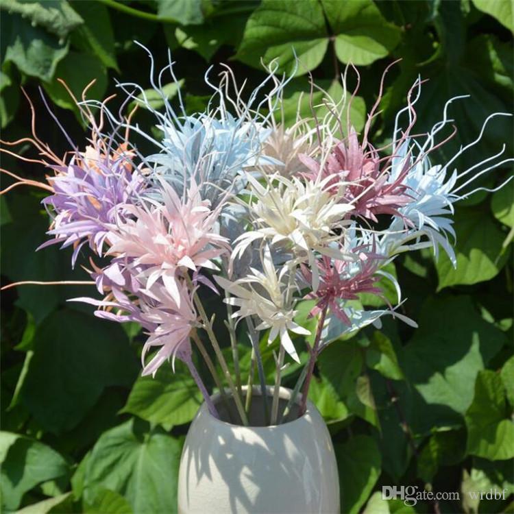 """Blooms faux de nuit (2heads / pièce) 26.38"""" Longueur Simulation Epiphyllum pour le mariage décoratifs pour la maison Fleurs artificielles"""