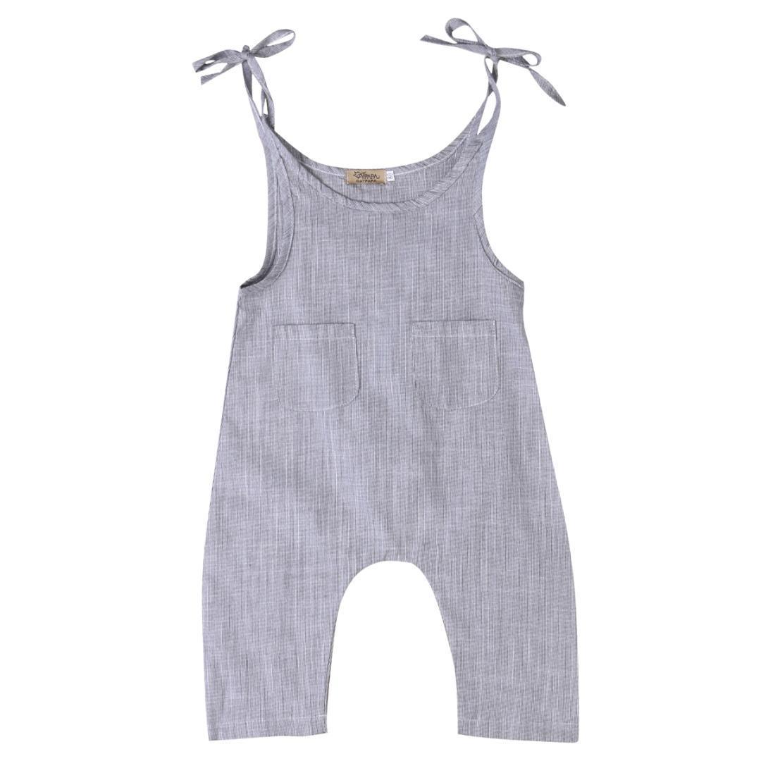 Verão recém-nascido roupa do bebê da menina de algodão sem mangas listradas Romper infantil da menina do menino Macacão roupa dos miúdos
