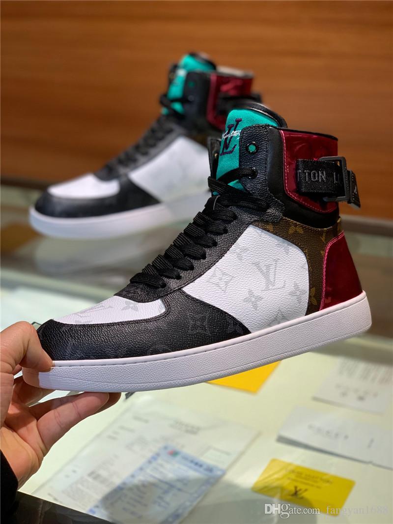 ce055ebefb ... De gama alta de lujo zapatillas de deporte de ocio de alta top hombres  exclusivos botas ...