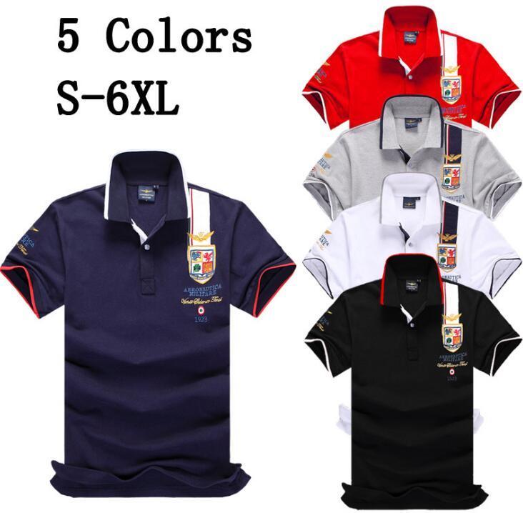 2019 novo Polo camisa Polo Sólida Dos Homens de Luxo Polos Camisas de manga curta dos homens Básicos Top Algodão Polos Para Meninos Marca Designer Polo Homme