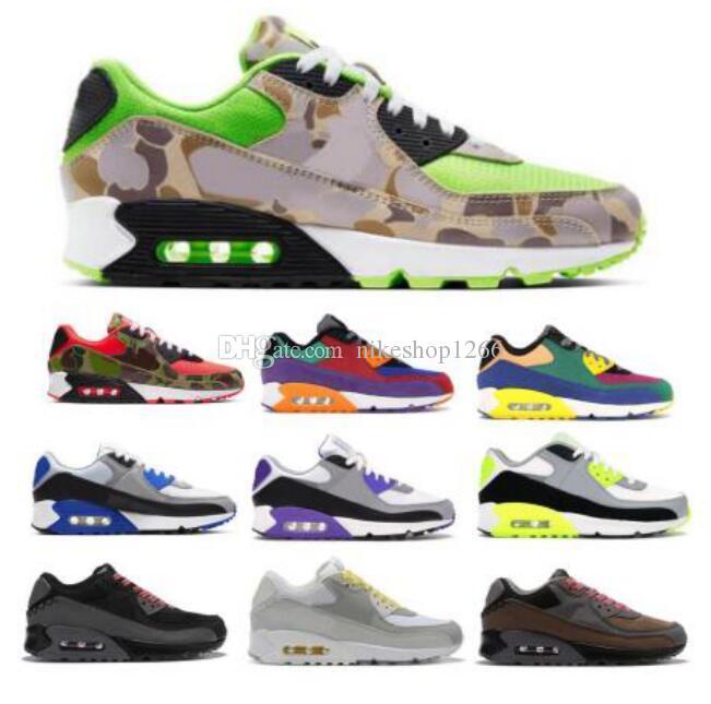 Airo 90 90s Laufschuhe für Herren Damen Reverse-Ente Camo Viotech OG Mixtape Total Sports Klassik Man Grün Des Chaussures-Trainer-Schuhe