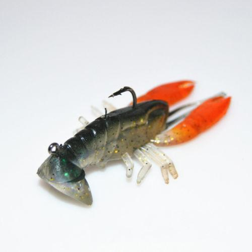 8cm 14g Soft Раки Приманки Рыбалка Реалистичная Креветки Lobster Claw Приманка Искусственная приманка Swimbait Новый O Любители рыбалки Инструмент