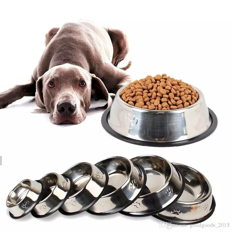 Stainless Steel Non-slip Feeding Bowl For Pets Anti-fall And Anti-bite Dog Bowl And Cat Anti-fall Feeding Bowl DLH143
