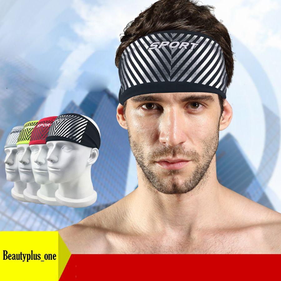 Elastic Man Women Sport Headband Under Sweat Wicking Stretchy Athletic Bandana Headscarf Yoga Headband Head Wrap Hair Accessories