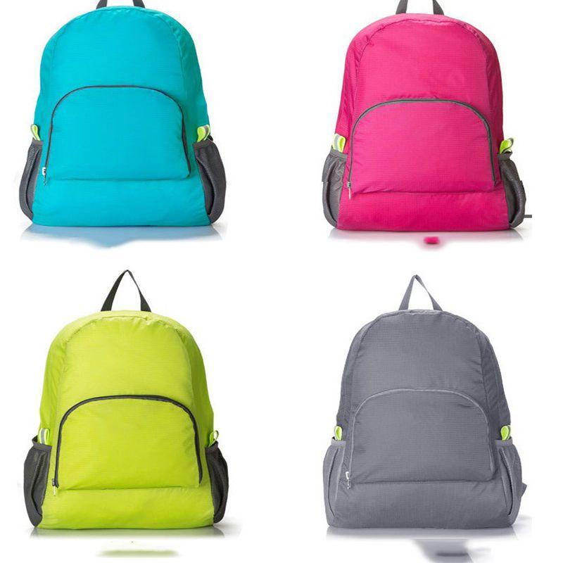 7 Renkler Açık Seyahat Taşınabilir Katlanır Su Geçirmez spor çantası Spor Çanta Sürme Depolama Sırt Çantası Kamp Tasarımcı Sırt Çantası