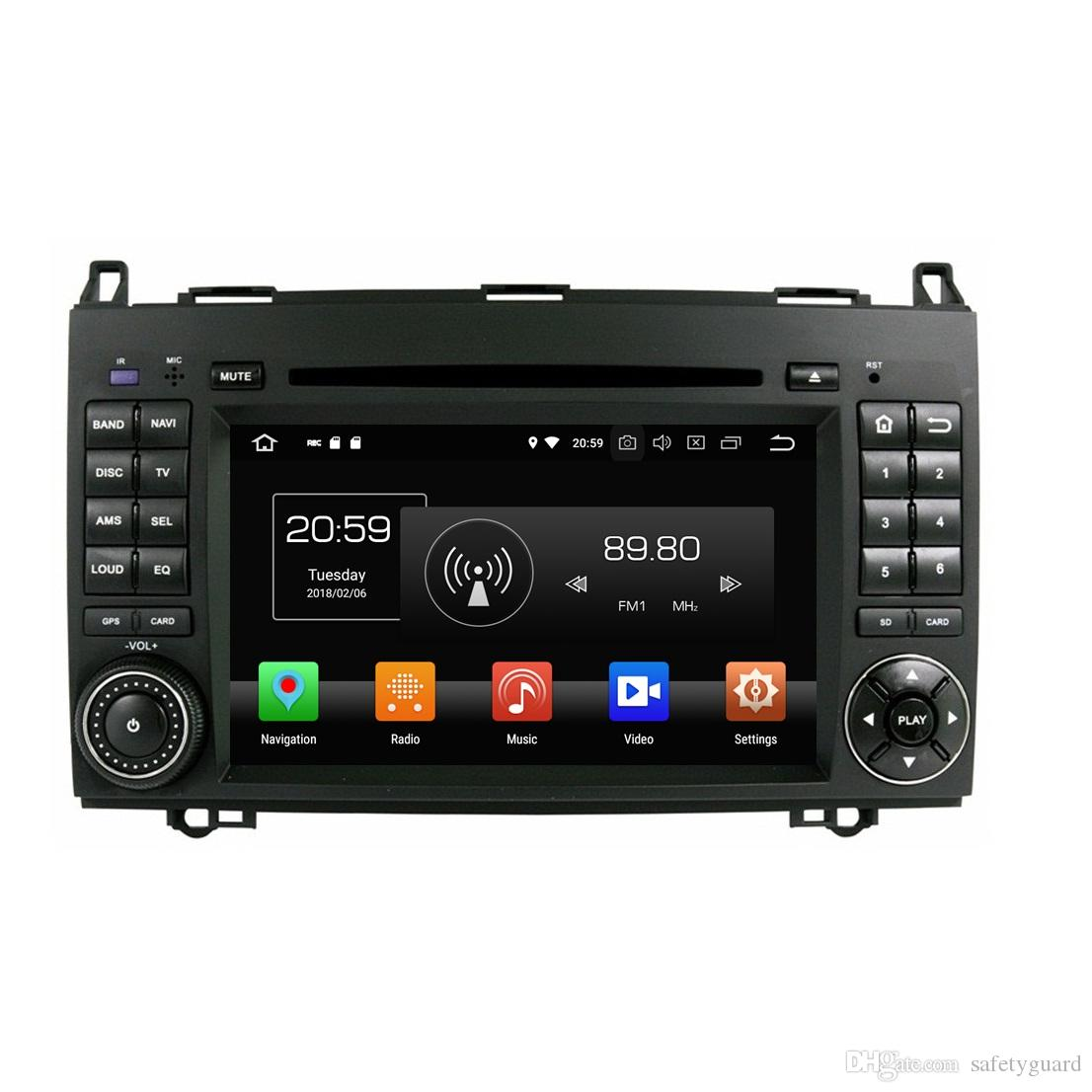 """4GB RAM 64GB ROM PX5 Octa Core 7"""" Android 8.0 Car DVD Player for Benz B200 A-W169 B-W245 Viano Vito RDS Radio GPS WIFI Bluetooth Mirror-link"""