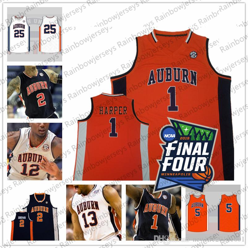 2021 2019 Final Four Tigers College Basketball Jersey 24 Anfernee ...