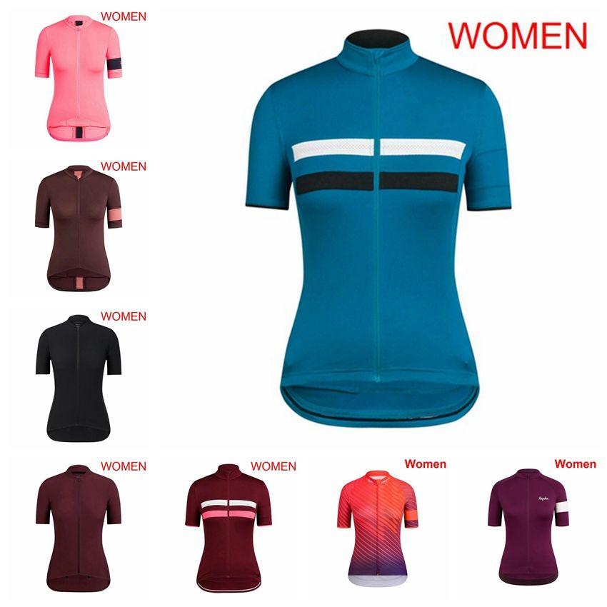 RAPHA Team individuelle Radfahren mit kurzen Ärmeln Trikot Frauen kurze Hülse atmungsaktiv schnell trocknend Outdoor-Sport-Jersey-Shirt S93013 gemacht