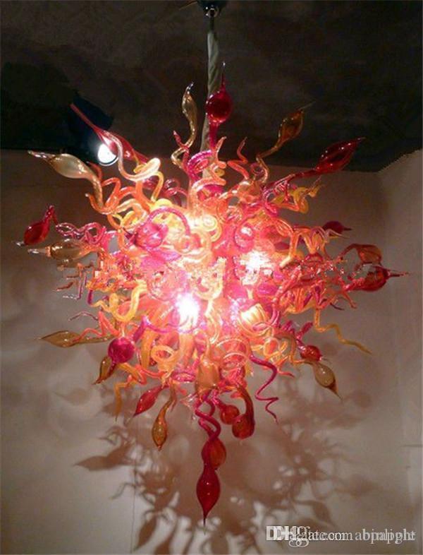 100% Handarbeit Blown Murano Glaskunst-Leuchter nach Maß energiesparende LED-Lichtquelle Moderne Kunst-Glasleuchter für Villa Decor