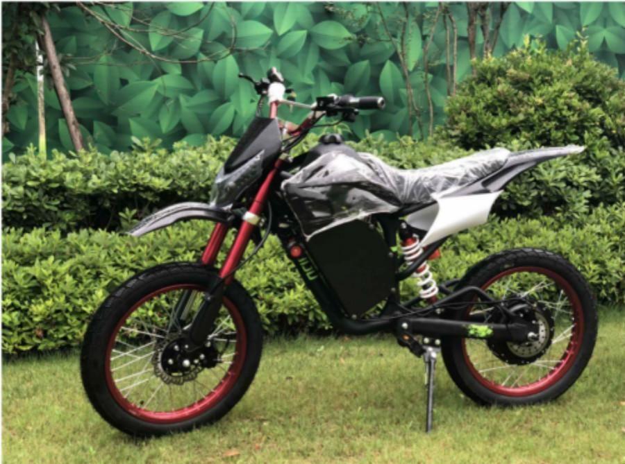 Yeni 72V 2000W Alüminyum Elektrikli Off-road (Kir) Yetişkinler İçin Bisiklet Motosiklet. 35 + MPH