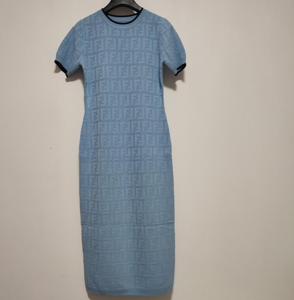 estate di 2020Women stretto sexy del vestito grande rotonda manica corta abiti Abbigliamento casual