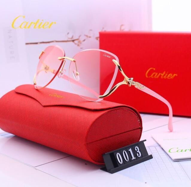 alta g6Cartiers ouro óculos de sol quadro mulheres-piloto para homens Óculos de Sol Feminino Mulheres Designers Óculos de sol com originais 0013
