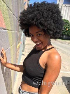 caliente este peinado de dama rizado rizado pelucas African Ameri pelo brasileño simulación del cabello humano afro peluca rizada suave para dama en stock