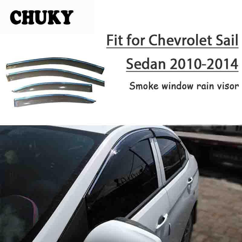 Fenêtre Styling Car chuky Visières Auvents Abris Protection pluie pour Chevrolet Sail Sedan 2010 2011 2012 2013 2014 Accessoires