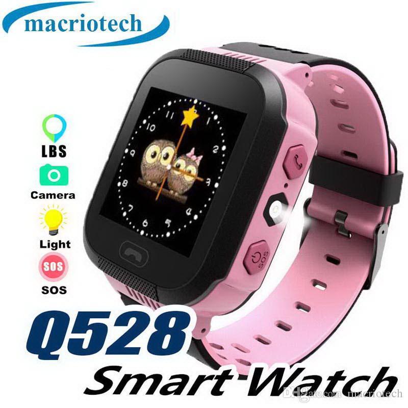 Q528 Crianças Relógio Inteligente Criança SmartWatch Tela Sensível Ao Toque de Emergência SOS GPRS Alarme Câmera Anti-perdido Relógio de Pulso Relógio de Bebê