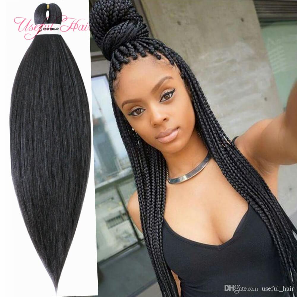 Pre Stretched Easy Braid Hair synthetic hair extensions Jumbo Braids Synthetic Braiding YAKI Style 20 Inches Crochet Hair Extensions soomth