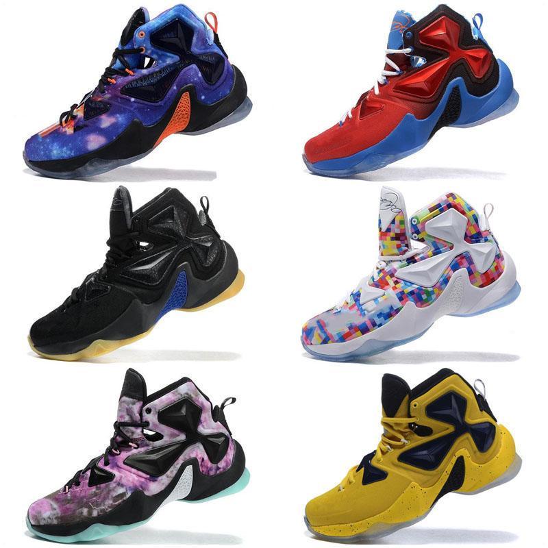 2019 Nouvelle arrivée Lebron 13 Basketball Casual Chaussures Enfants de haute qualité Noir Blanc Rouge Violet SplitL extérieur Chaussures de sport de formation pour homme