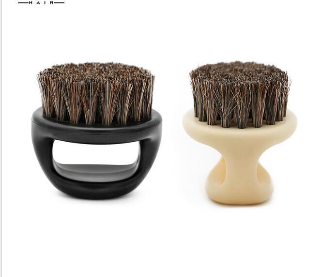 DHL الرجال شارب الحلاقة وفرشاة حلقة حية فرشاة العنق التي تجتاح حلاقة كسر تنظيف فرشاة الشعر شعر الخيل التصميم أداة تصفيف الشعر