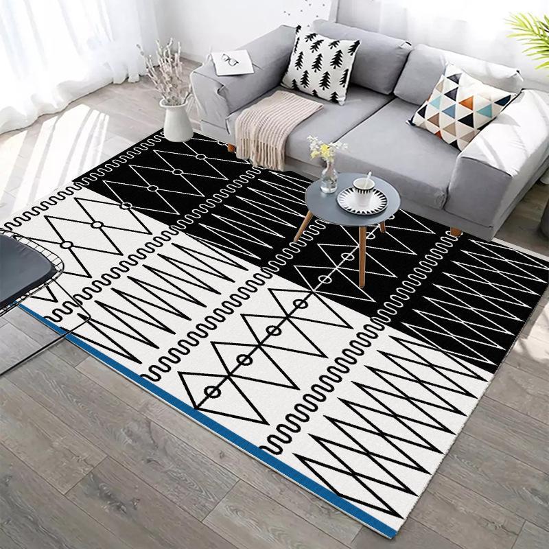 Скандинавские геометрическим рисунком Большие ковры для гостиной Спальня Коврик Современный дом 3D Printed покрытие Ковер Детский Play Antislip Мат