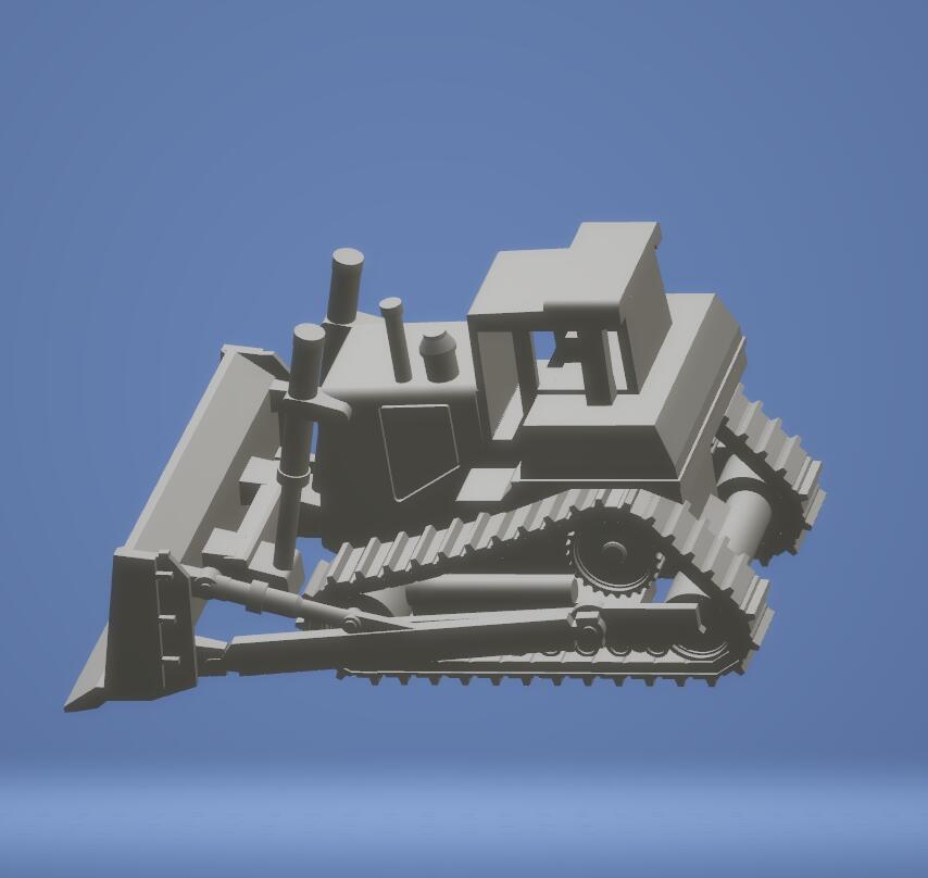 Buldozer Özel sipariş yüksek kalite, yüksek hassasiyetli dijital modeller 3D baskı hizmeti Klasik ST2132 nesneleri