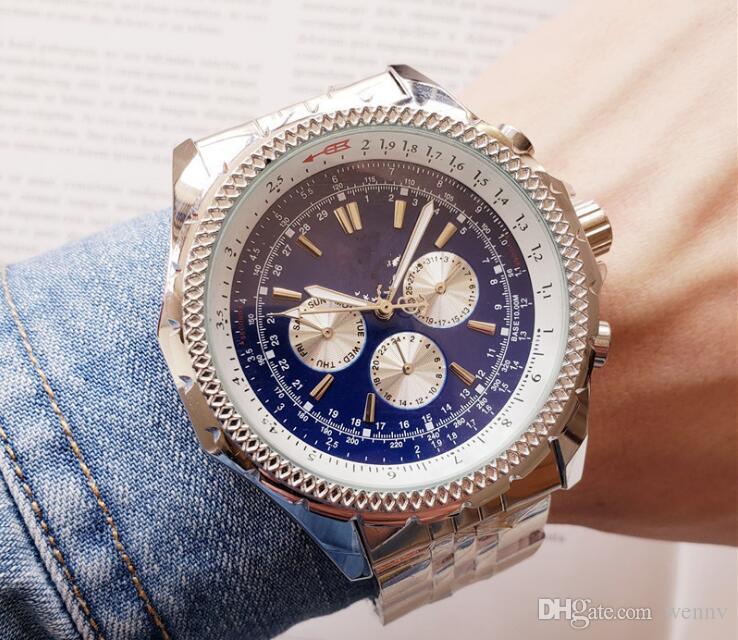 Nouvelle montre de luxe de haute qualité nouvelle marque mécanique automatique montre homme NAVITIMER noir grand cadran 46 mm bleu montre pour hommes de mode