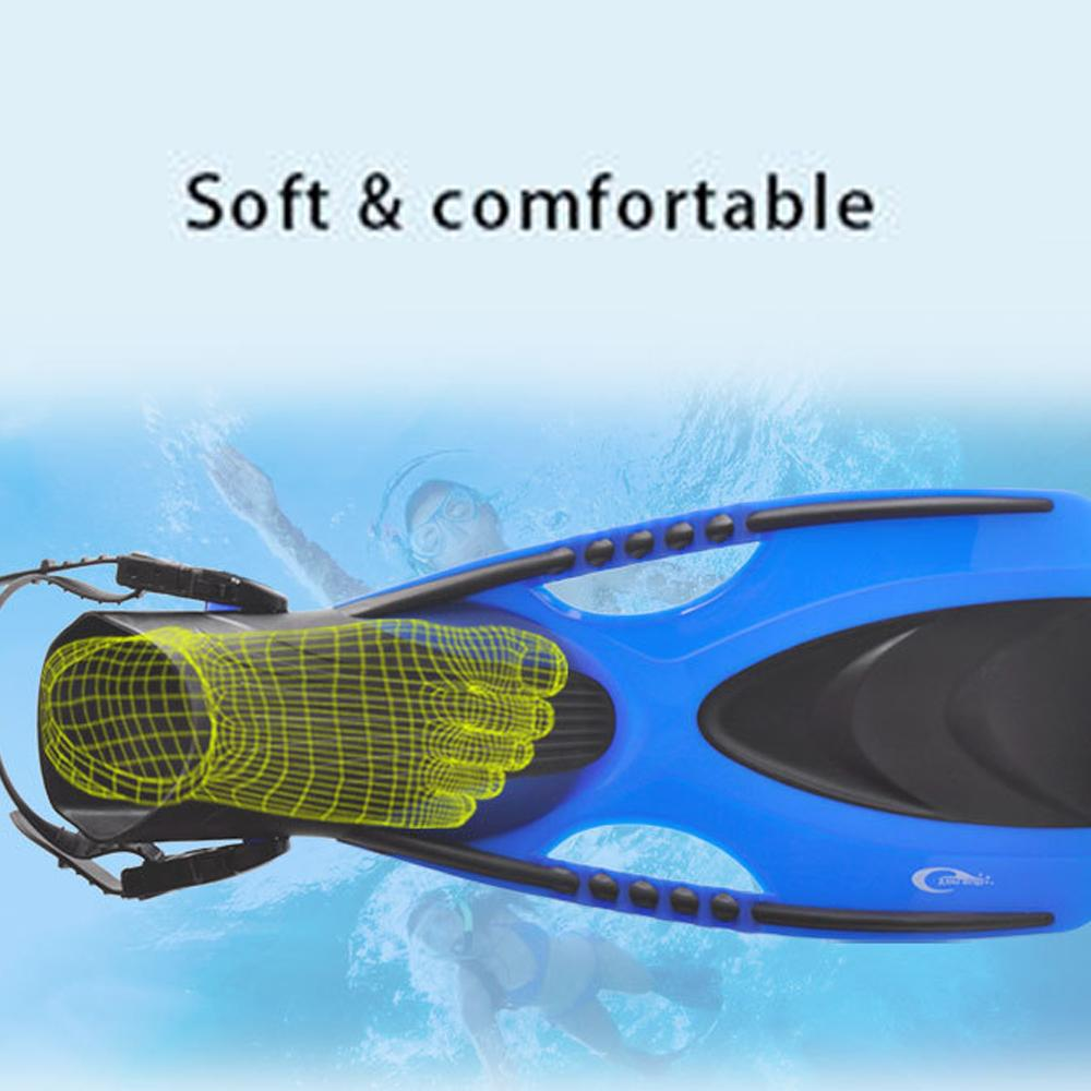 New Anti-slip Diving Fins Adjustable Snorkel Swimming Fins Neoprene Swim Flipper For Adults Surfing Snorkeling Diving Flippers