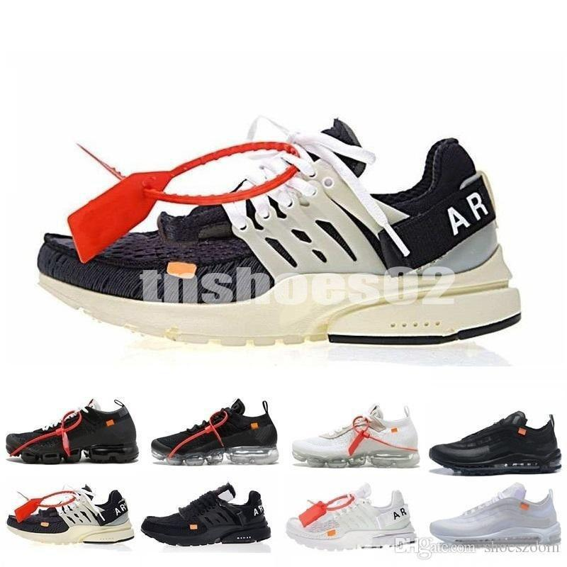 Off White x Nike Air Presto 2.0 2020 Yeni Presto V2 BR TP QS Siyah Beyaz X Koşu Ayakkabı Ucuz 10 Hava Yastık presto Spor Kadın Erkek Eğitmeni Sneakers T41 kapalı