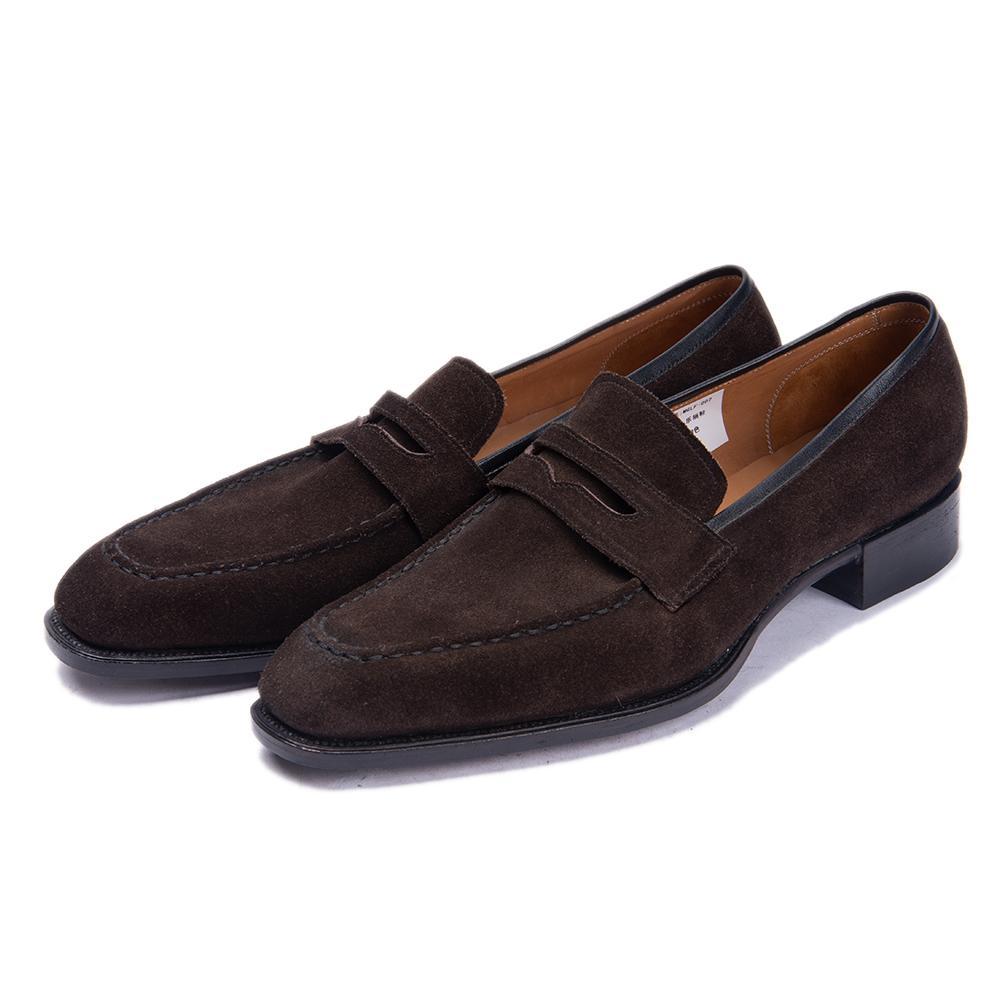 Hecho a mano Oficina de los calzados informales de los hombres real de lujo del cuero formal de la boda del partido del ocio zapatos de marca para hombre del holgazán