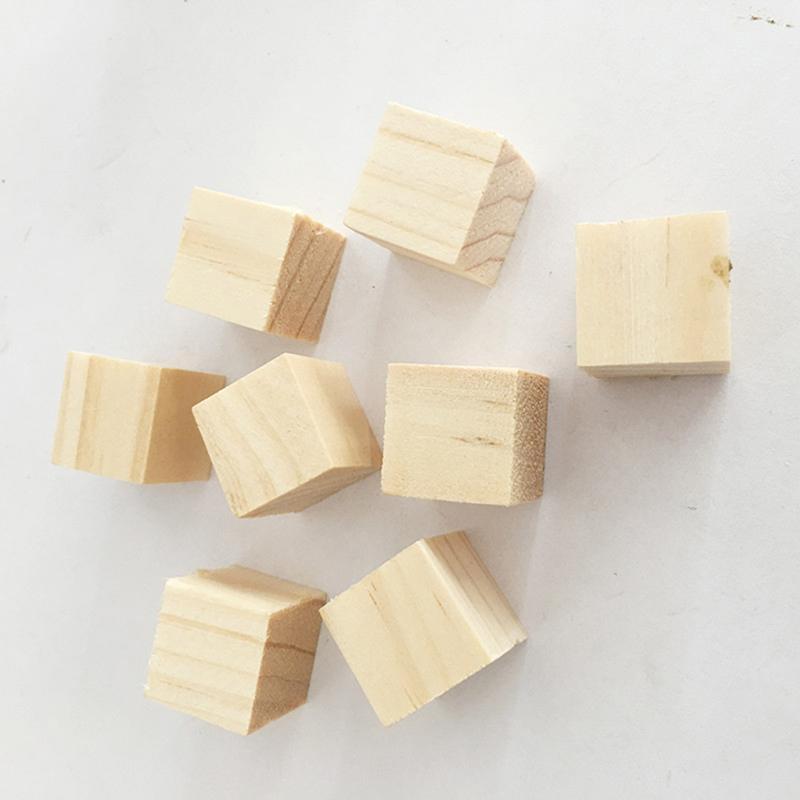 La alta calidad de 10 mm / 20 mm de madera bloques cuadrados mini cubos adorno para elaboración de la madera del arte DIY