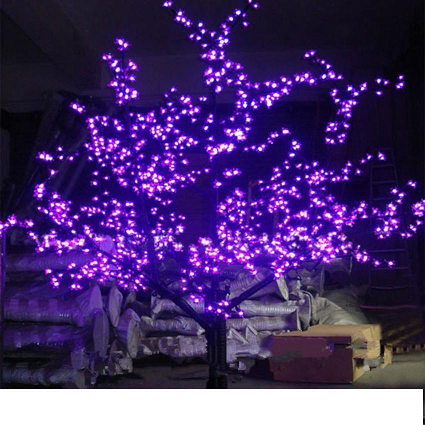 LED LED de Navidad al aire libre artificial Flor de cerezo luz de la lámpara árbol 1248pcs 6 pies de altura 1,8 m 110VAC 220VAC a prueba de lluvia gota de envío