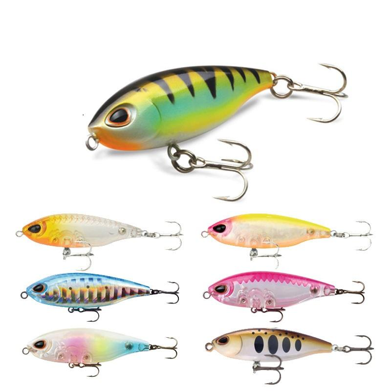 Fishing Lures Gorgons 3g 45mm Ultralight Fishing Micro Lure Pencil Wobble Triple Hook Mini Plastic Bait Freshwater Topwater Lures