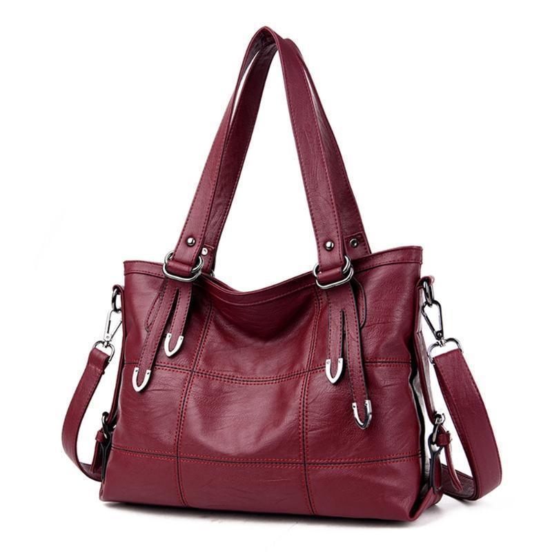 2019 Estate Retrò Borse donna Moda Pu Leather Femminile Grande Tote Handbag Borsa a tracolla donna J190709