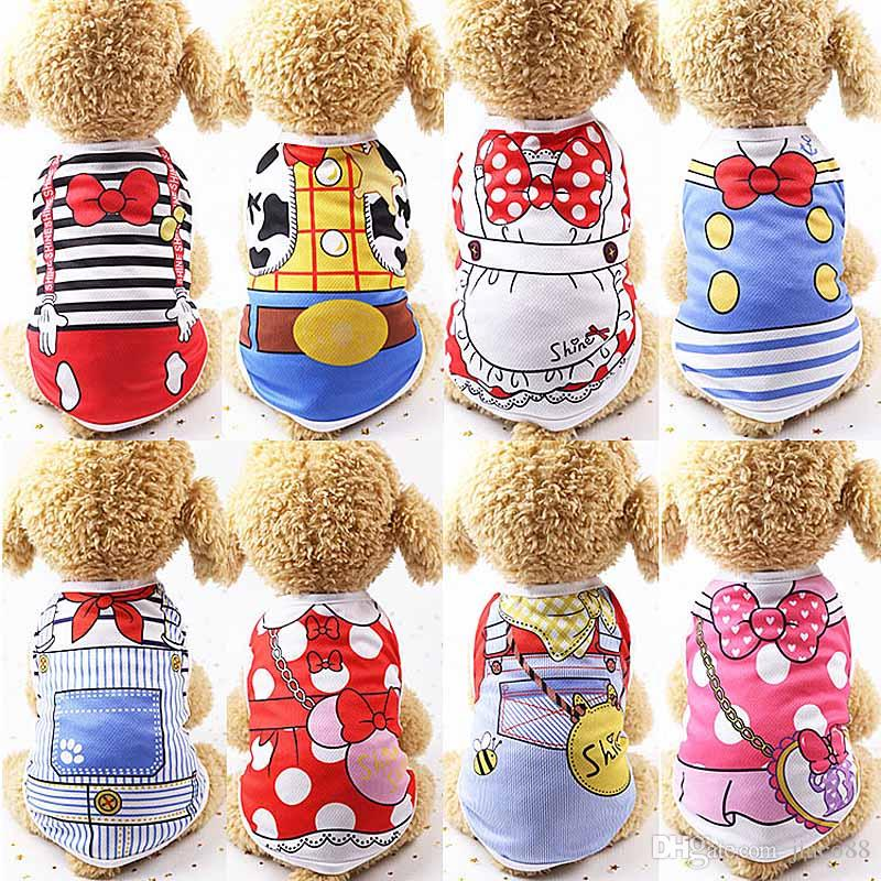 Cute Pet Dog Clothes Cat T-shirt Vest Small Cotton Puppy Soft Coat Jacket Summer Apparel Extra Small Chihuahua Clothing Costume Pet Supplies