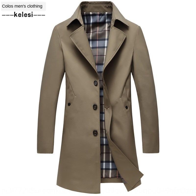 Ic3tf 2020 nova lapela fina de comprimento médio outono coreano casaco corta-vento Casaco casual blusão masculina