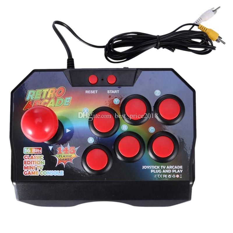 Retro-Arcade-Spiel Joystick Game Controller mit Stecker Gamepad-Konsole kann 145 Spiele für Tv Classic Edition Mini-TV-Spielekonsole speichern Free DHL