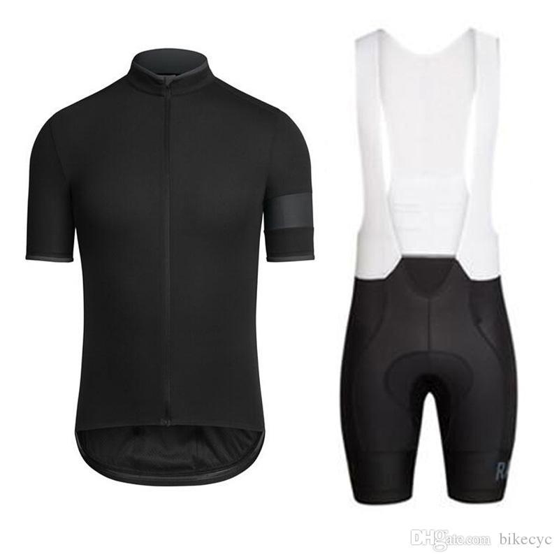 Rapha Team Cycling Mangas cortas Jersey Babero Shorts Sets Bicicleta de secado rápido Correa delgada de verano Ropa de bicicleta de verano 3D Gel Pad Sportwear Nuevo U40110