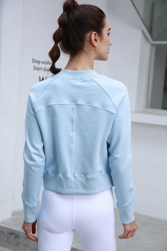 Kadınlar Hazır To Rulo Mürettebat Sweatshirt Ceket Elbise Yoga Spor Uzun Kollu T Shirt Lu | u | emon Spor Gömlek