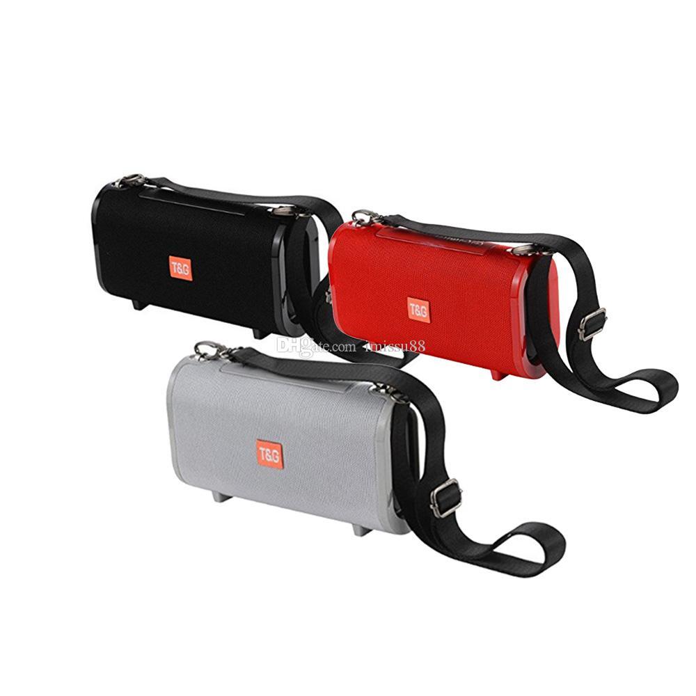 2019 TG123 Hoparlör Bluetooth Kablosuz Hoparlörler Açık Subwoofer Handsfree Mini Çağrı Profili Stereo Destek TF USB Kart Hi-Fi Loud