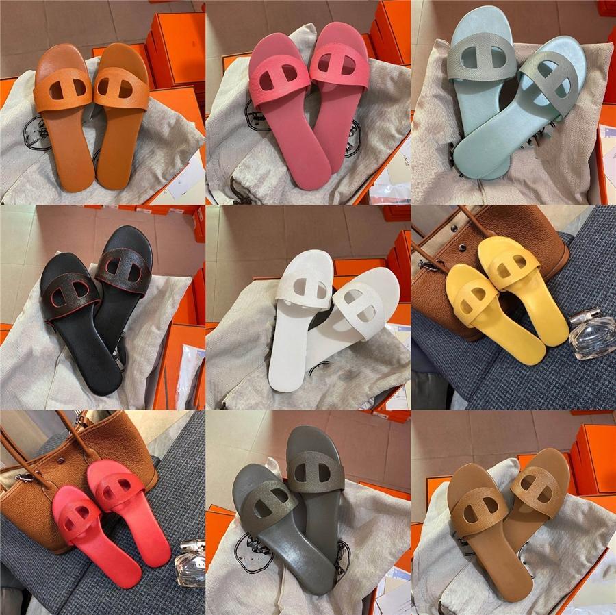 De haute qualité en caoutchouc 2020 Chaussures d'été Hommes Sandales Flats Back-Bracelet Shallow Concise Pu Pantoufles Mules Sandales Hommes Chaussures # 203